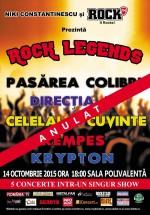 Rock Legends la Sala Polivalentă din Bucureşti – ANULAT