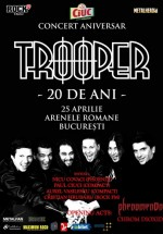 Concert aniversar Trooper – 20 de ani la Arenele Romane din Bucureşti