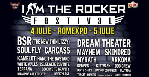 Programul concertelor la festivalul I AM THE ROCKER 2015
