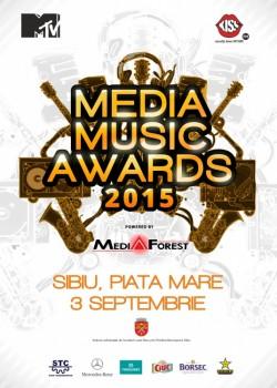 Media Music Awards 2015 în Piaţa Mare din Sibiu