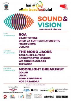 Zilele Bucureştiului 2015: Sound & Vision Festival la Gara Regală Băneasa din Bucureşti