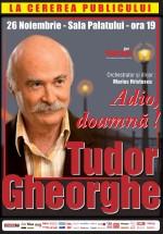 Concert Tudor Gheorghe – Adio, doamnă!, la Sala Palatului din Bucureşti
