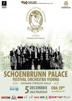 Concert Schoenbrunn Palace Festival Orchestra Vienna la Sala Palatului din Bucureşti