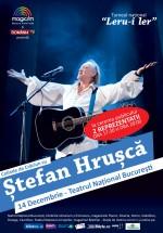 Concerte de Crăciun cu Ştefan Hruşcă la Teatrul Naţional Bucureşti