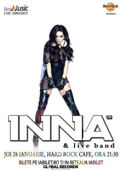 Concert INNA & live band la Hard Rock Cafe din Bucureşti