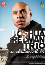 Concert Joshua Redman Trio la Sala Radio din Bucureşti