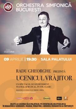 """Concert Orchestra Simfonică Bucureşti – """"Ucenicul Vrăjitor"""", la Sala Palatului din Bucureşti"""