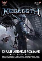 Concert Megadeth la Arenele Romane din Bucureşti