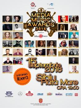 Media Music Awards 2016 în Piaţa Mare din Sibiu