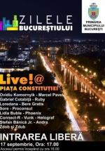 Zilele Bucureştiului 2016 – Live!@Piaţa Constituţiei