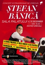 Concert de Crăciun cu Ştefan Bănică la Sala Palatului din Bucureşti
