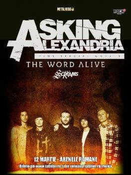 Concert Asking Alexandria la Arenele Romane din Bucureşti