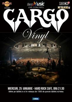"""Concert CARGO – lansare """"Vinyl"""" la Hard Rock Cafe din Bucureşti"""