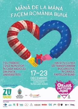 Oraşul Faptelor Bune în Piaţa Universităţii din Bucureşti