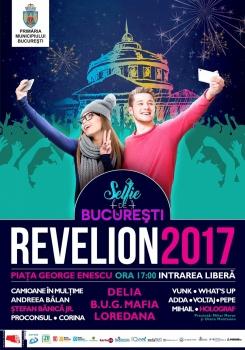 Revelion 2017 în Piaţa George Enescu din Bucureşti