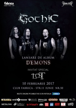 """Concert Gothic – lansare album """"Demons"""" în club Fabrica din Bucureşti"""