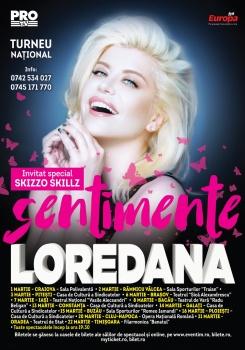 """Turneu naţional Loredana – """"Sentimente"""" – România 2017"""