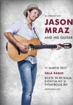 "Concert Jason Mraz – ""An evening with Jason Mraz"" la Sala Radio din Bucureşti"