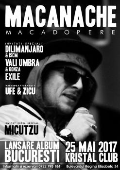 """Concert Macanache – lansare """"Macadopere"""" la Kristal Club din Bucureşti"""