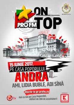 ProFM On Top pe Casa Poporului din Bucureşti