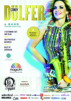 Concert Candy Dulfer la Sala Palatului din Bucureşti – ANULAT