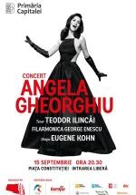 Concert Angela Gheorghiu în Piaţa Constituţiei din Bucureşti
