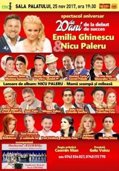 Concert Emilia Ghinescu şi Nicu Paleru la Sala Palatului din Bucureşti