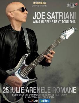 Concert Joe Satriani la Arenele Romane din Bucureşti (CONCURS)