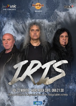 Concert IRIS la Hard Rock Cafe din Bucureşti