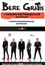 """Concert Bere Gratis """"Simfonia20"""" la Sala Palatului din Bucureşti"""