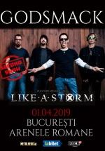 Concert Godsmack la Arenele Romane din Bucureşti