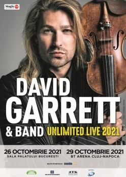 """Concert David Garrett – """"Unlimited Live"""" la Sala Palatului din Bucureşti"""